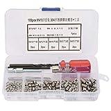 Kit de reparación de insertos roscados de 105 piezas con herramientas Insertos de alambre de acero...