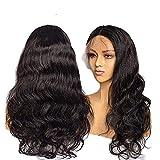KHOBGLU Body Wave Perücken Spitze Front Perücken Natürlicher Haaransatz Mit Baby Haar Haar Spitze Perücken Body Wave Echthaar Perücken 18 Zoll Natürliche Farbe