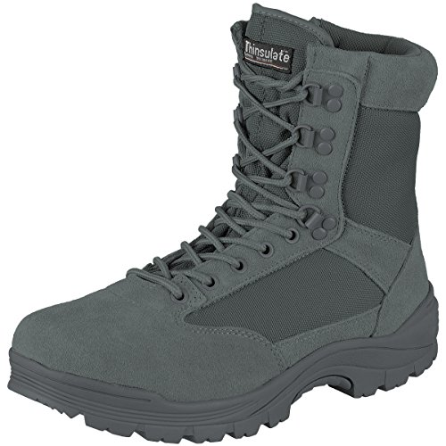 Mil-Tec Tactical Boots m. YKK Zipper urban Grey Gr.7/ EU40