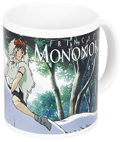 Prinzessin Mononoke Tasse Mononoke Studio Ghibli weiß, Bedruckt, aus Keramik.