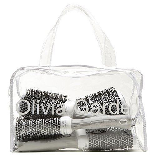 Olivia Garden Ceramic + Ion™ Cepillos Térmicos Redondos - Bolsa de 5...