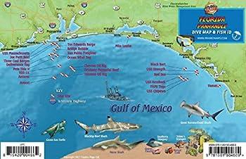 Florida Panhandle Dive & Wreck Map & Reef Creatures Guide Franko Maps Waterproof Fish Card