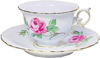 【正規輸入品】 マイセン [MEISSEN] マイセンのバラ(ピンク) ティー/コーヒー 兼用カップ&ソーサー 020110/12582