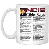 Ncis Gibbs Rules, Ncis Gibbs Rules Mug, White Ceramic Coffee Cup Gift, Friend, Colleague, Co-Workers, Christmas, Birthday LoveGiftMug