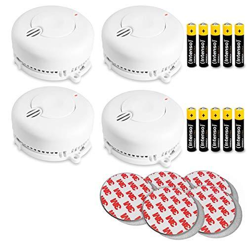 4X Kidde FireX Rauchmelder 29BHLD-FR mit 5 Jahresbatterie (austauschbar) und Magnethalterung. Rauchwarnmelder nach DIN EN 14604 inklusive Batterie