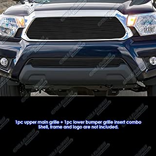 APS Compatible with 2012-2015 Toyota Tacoma Black Billet Grille Combo T81308H