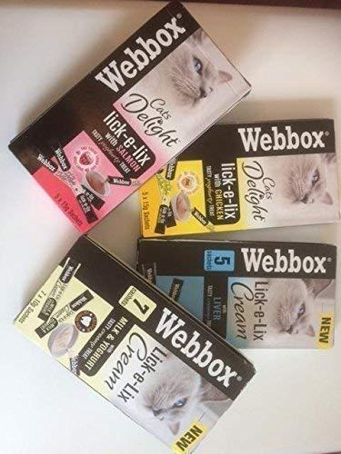 Webbox lick-e-lix Gato Golosinas - Variedad Pack
