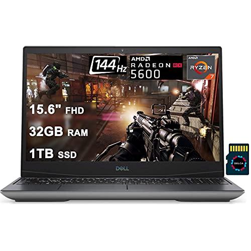 Dell2021Flagship G515GamingLaptopI15.6'FHD144HzIAMD8-CoreRyzen74800H I32GRAM1TBSSDIAMDRX5600M6GIThunderboltWin10+Delca32GBMicroSDCard