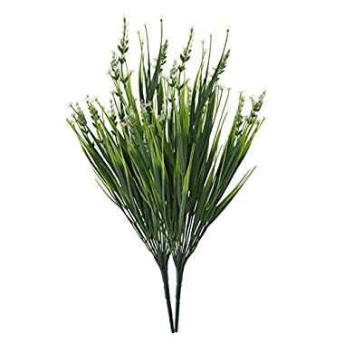 19  Tall Artificial Flowers Faux Lavender Bouquet Floral Arrangements Table Centerpieces Plants (White)