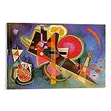 Wassily Kandinsky Art Abstracto Expresionismo Poster Pintura Decorativa Lienzo Arte de Pared Cartel de Sala de estar Cuadro Dormitorio 50 x 75 cm