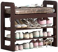 家具装飾靴オーガナイザー/靴ラックシートフットスツール棚ドア収納スツールソファスツール靴ラックドアの後ろ(色:白)