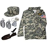 Army Costume for Kids | Soldier Costume for Boys and Girls Dress Up%カンマ% Small 4-6 Camo [並行輸入品]