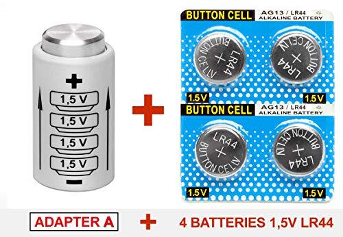 Adaptador de batería (Adapter A) para KIEV 88 TTL Prisma + 4 Pilas botón 1,5V LR44