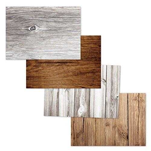 corpus delicti :: Papier-Tischsets als Abreißblock in Holz-Optik als Gastgeschenk – Woody
