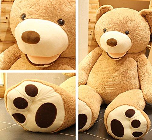 AMIRA TOYS ぬいぐるみ 特大 くま テディベア 可愛い熊 動物 大きい くまぬいぐるみ クマ 抱き枕 お祝い ふわふわぬいぐるみ 熊縫い包み クマ 抱き枕 お祝い ふわふわ お人形 女の子 男の子 子供 女性 抱き枕 プレゼント インテリア ビッグサイズ 3色選択 (ブラウン, 200cm)