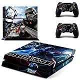 Star Wars Suitable for Ps4 Controller Handle Stickers, Playstation 4 Host Controller Full-Body Vinyl Skin Decals Premium Frosted Protective Cover