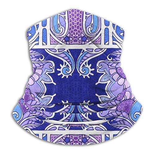 Hustor - Pasamontañas para el cuello, color azul y morado