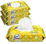 Bathroom and Kitchen Cleaning Wipes, Multi Purpose Scented Wipes (4 Pack)