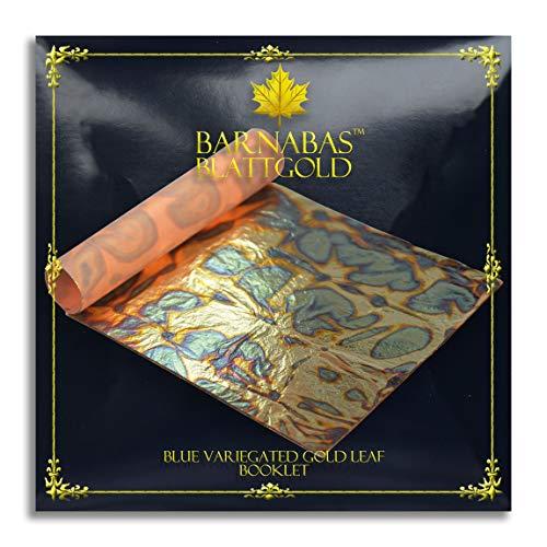 Barnabas Schattiertes Blattgold - Blau, 14 X 14cm, 25 Blätter in Blattsammlung