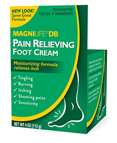 MagniLife DB Pain Relieving Foot Cream Calming Relief for Burning, Tingling, Shooting & Stabbing Foot Pain - Soothes Dry, Cracked, Itchy, Sensitive Skin - Suitable for Diabetic Skin - 4oz