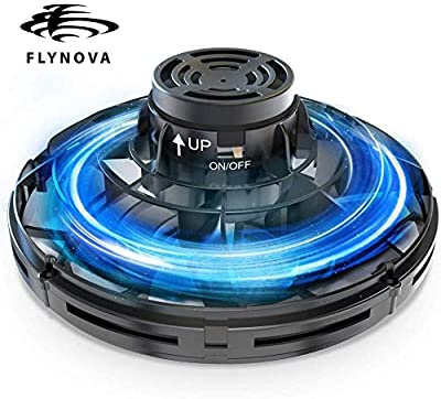 Flynova Flying Toy, Hand Operated Drones for Kids or Adults, Finger Controll Mini UFO Drone with 360°Rotating and Shinning LED Lights, Adult Gift for Surprises and Fun