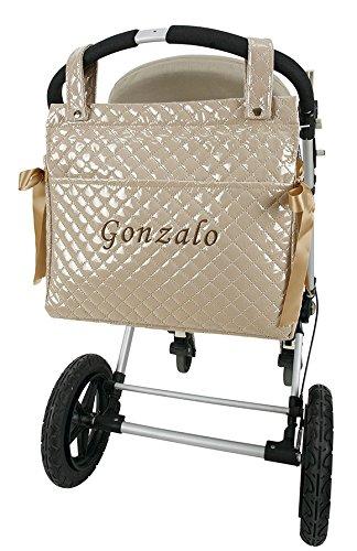 Bolso talega lactancia personalizado con nombre bordado para carro regalo de un babero
