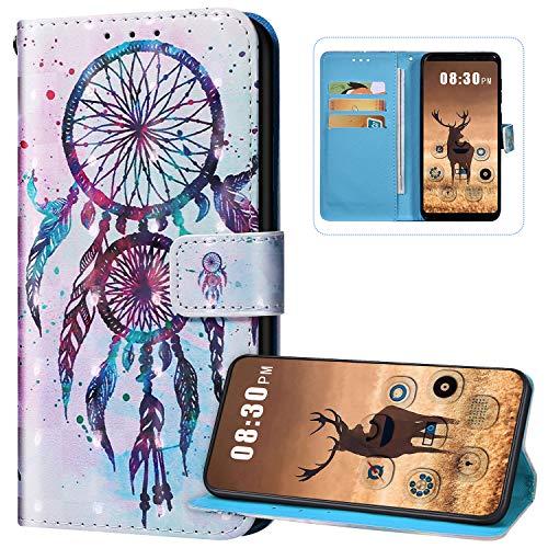 Funda con tapa para Huawei P30 Lite, piel sintética, cierre magnético, funda protectora de cuerpo completo, diseño de patrón lindo con tarjeteros, soporte de silicona suave, Dreamcatcher-1