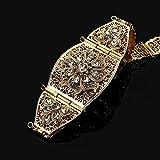 Cinturón de flores vívidas para mujer, cinturón de vestir árabe, boda real, apuestas nupciales, cadena ajustable, cinturones de boda, cinturón brillante con diamantes de imitación, modelo 1