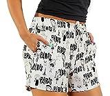 Sesto Senso Pantalones Cortos Claros de Pijama Mujer Algodón L 2543/04 París