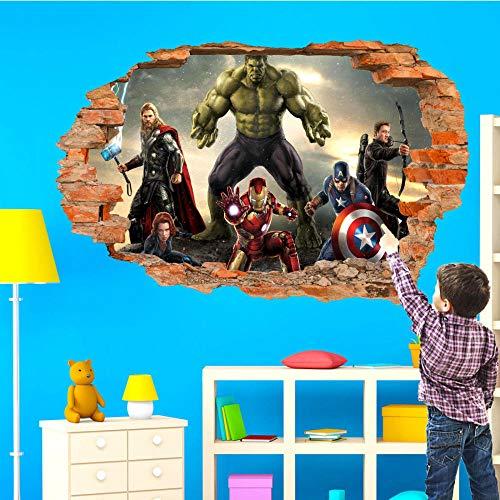 Pegatinas de pared-3D-Película héroe pegatinas de pared arte póster calcomanías murales decoración-50x70cm