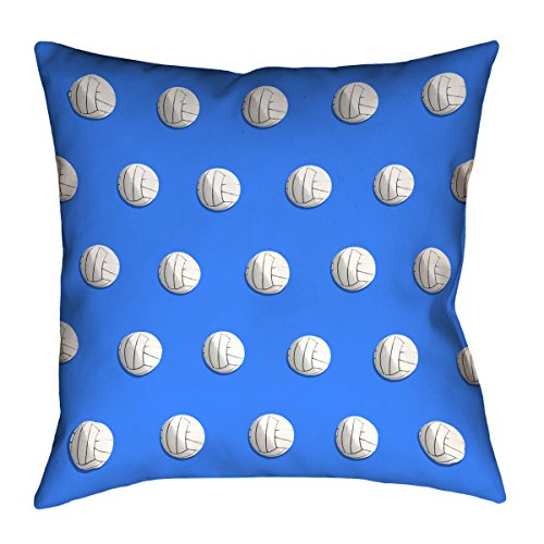 Artverse Katelyn Smith 14 X 14 Cotton Twill Double Sided Print With Concealed Zipper Insert Teal Volleyball Pillow Throw Pillows Home Kitchen