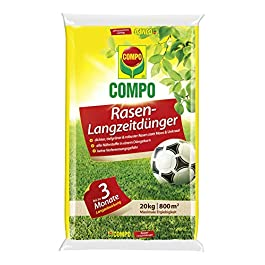 Compo Engrais à Gazon à Effet Longue durée, Entretien des pelouses avec Un Effet jusqu'à 3 Mois pour Les Surfaces de Jeu…