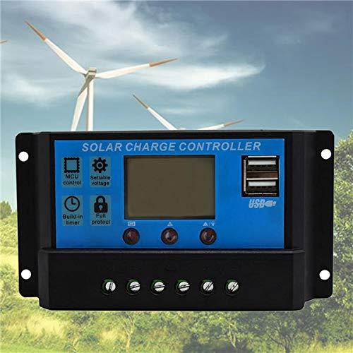 LTH-GD Relais Régulateur de Batterie de Panneau Solaire USB Charge Contrôleur Intelligent 12 / 24V 10/20 / 30A commutateur de Relais WiFi (Color : 20A)