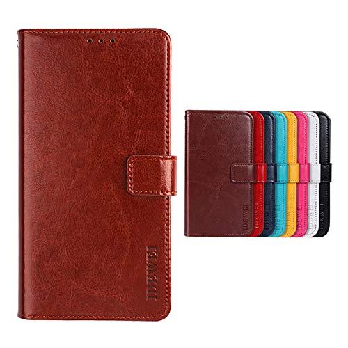 Botongda für TP-LINK Neffos C5A Hülle,Magnetverschluss Kunstleder Tasche mit Standfunktion & Kreditkartensteckplatz Flip Wallet Case Cover für TP-LINK Neffos C5A (Braun)