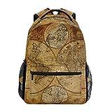 WowPrint Mochila vintage con mapamundi para libros de hombro, mochila escolar, senderismo, viajes,...
