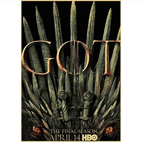 manyaxiaopu Game of Thrones Season 8 Poster TV Play Poster and Prints Wall Art Painting For Home Room Decor Wall Sticker Pintura Sin Marco B20 50X70Cm