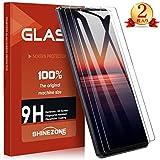 SHINEZONE Sony Xperia 1 II ガラスフイルム【 2枚セット】Sony Xperia 1 II DOCOMO SO-51A/au SOG01 強化ガラス液晶保護フィルム 日本旭硝子製 防指紋 透過率99.9%