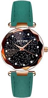 Docooler Women Fashion Brilliant Starry Night Dial Watch Lady Simple Exquisite Metal Quartz Wrist Watch