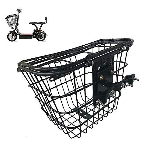SUIBIAN Elektro-Scooter Korb, Vorder Eisen Korb mit Öffnen und Schließen Deckel Schnalle, geeignet für kleine Harley/Falten elektrischer Roller/Dreirad Zubehör