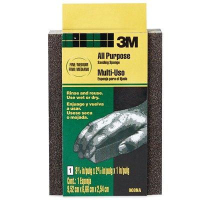 3M 908-ESF Fine/Medium Flexible Sanding Sponge - Quantity 24