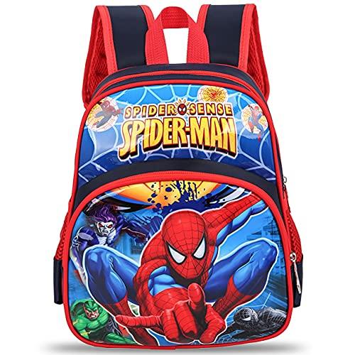 simyron Zainetto Spider - man Zainetti per Bambini Zaino Bambino Satchel Scuola Asilo Mini Zaino per Bambini Carino Primario Piccola Asilo Nido PreSchool Ragazzi o Ragazze Uomo Ragno 3-7 anni(Blu)