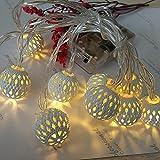 Guirnalda de luces de hadas funciona con pilas, 10 luces LED para colgar en interiores y exteriores, luces decorativas de Navidad para el hogar, fiesta, patio, jardín, boda, CUIFULI