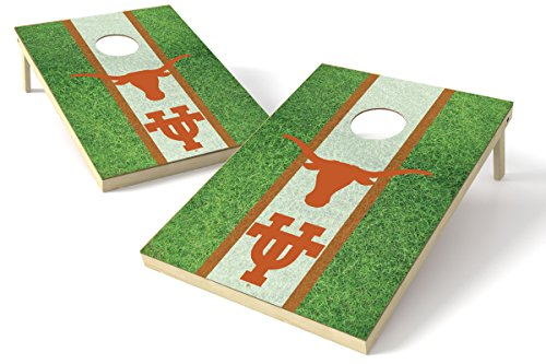 Proline NCAA Kornloch-Set, 61 x 91 cm, Feld-Design, Texas Longhorns 2x3 Cornhole Board Set - Field, Teamfarbe, 2' x 3'