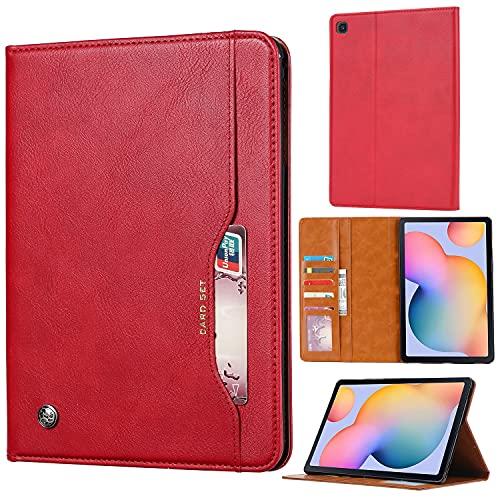 SZCINSEN Funda para tablet Samsung Galaxy Tab A7 Lite SM-T225/T220 con función atril plegable con función de encendido y apagado automático, color rojo