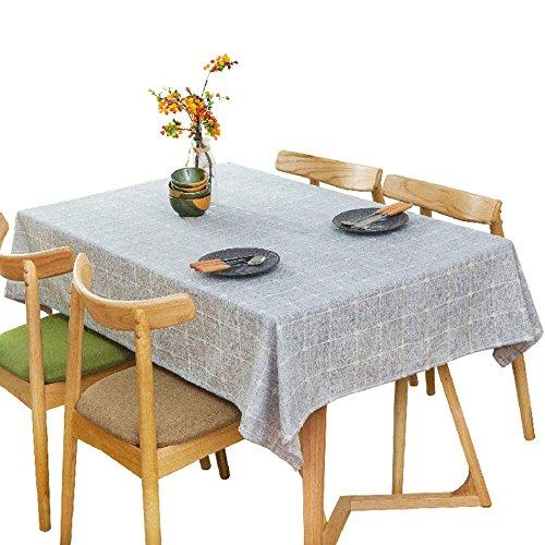 ZWL Nappe, Pique-Nique Couverture Tissu Rétro Gris Clair Nappe Table à Dîner Petite Table Ronde Longue Table Nappe Café Boutique Nappe Nappe 60-240cm , Ajoutez de la vitalité à la cuisine ( taille : 60*120cm )