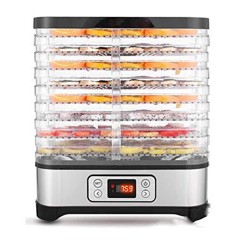 Hopekings Deshidratador de Alimentos 8 Pisos Bandejas, Deshidratador de Frutas y Verduras 400W con Temporizador 72H y Temperatura ajustable,Pantalla LCD,sin BPA