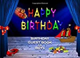 BIRTHDAY GUEST BOOK FOR BOYs CELEBRATION SIGN IN: 8.25x6 inch visitors book for parties with kids...