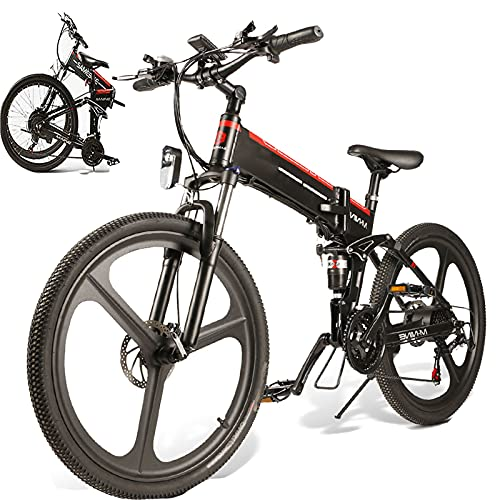 SUNWEII Bicicleta Electrica Plegable Urbana EBIKE 500W Bicicleta Montaña Adulto Bicicleta Electrica...