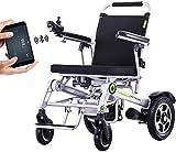 WCZ Silla de ruedas eléctrica, ancianos, discapacitados, multifunción, silla de ruedas eléctrica plegable Gps completamente automática, para una persona discapacitada Silla de ruedas moderna
