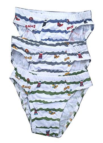 3 St. Jungen Slips Unterhosen, Gr. 134/140, JB207-2.8/10e